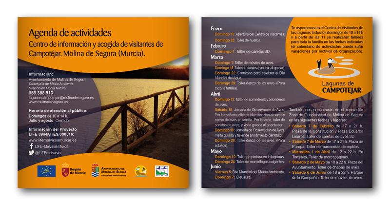 Agenda de actividades. Proyecto europeo LIFE.